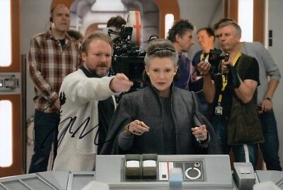 RIAN JOHNSON signed Autogramm 20x30cm STAR WARS in Person autograph COA JEDI