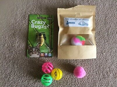 Various Spare Cat Toys. Opened But Unused.