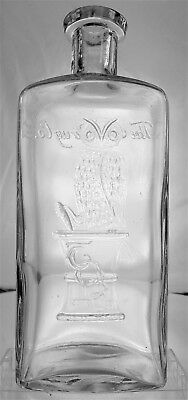 THE OWL DRUG CO. ANTIQUE MEDICINE BOTTLE  Large 16 oz. 7.75""