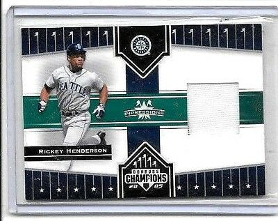 Rickey Henderson 2005 Donruss Champions Impressions Game Used Jersey