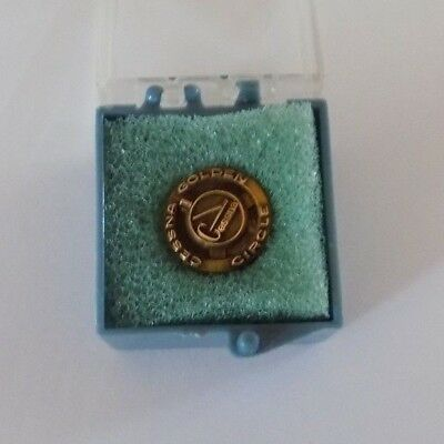 Vintage Cessna Golden Circle 10k Gold Lapel Pin year 1 NOS  FREE SHIPPING