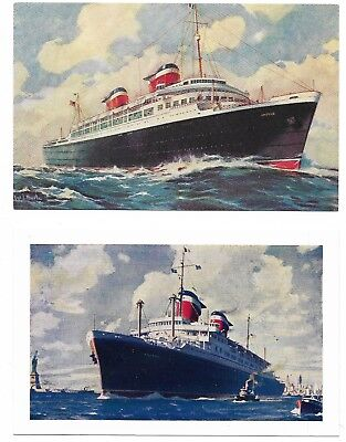 United States Lines Ss America Postcards (4) Lot #30