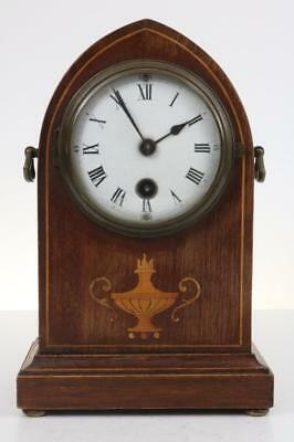 MINIATURE BRACKET CLOCK by PHILLIP HAAS & SOHNNE Edwardian inlaid mahogany