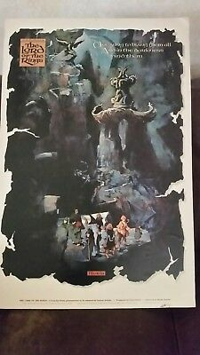 Vintage movie poster lord of the rings . Moria.