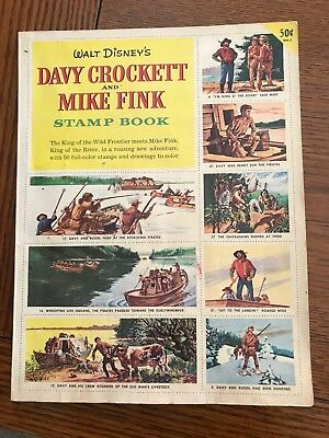 Walt Disney's 1955 Davy Crockett & Mike Fink Stamp Book