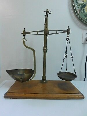 Antique Brass Apothecary Gold Balance Scale