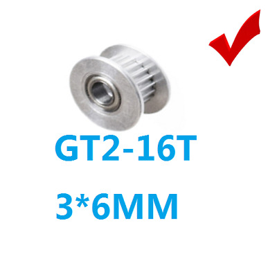 Toothed GT2 16Teeth 3mm Bore 6mm Width Timing Belt Idler Pulley ,3D Printer CTC