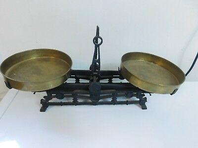 Antique Brass Cast Apothecary Gold Balance Scale