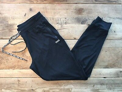 Pink Victoria Secret Pure Black Ultimate Classic Jogger Pant New Vs!