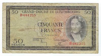 Luxembourg P-51 50 Francs 1961 circulated
