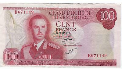 Luxembourg P-56 100 Francs 1970 circulated