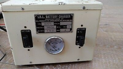Vintage Classic Car Motorcycle Irl Battery Charger Collectors Type  6V 12V