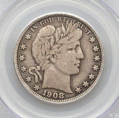 1908-S PCGS F15 Better Tough Date Barber Silver Half Dollar Type Coin Fine