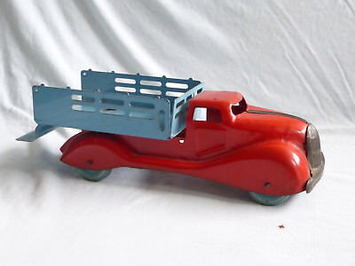 LUMAR Marx Blech LKW Tin Toy Truck Pressed Steel 30er Jahre Made in England 29cm
