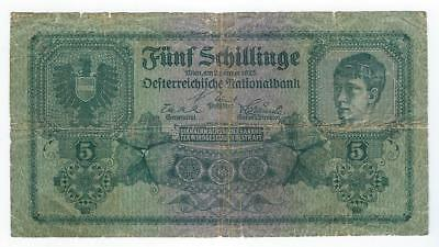 Austria P-88 5 Schillings 2-1-1925 circulated