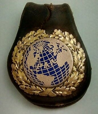 Early Pan American Airlines Badge Key Chain  Oak Leaf Design L@@k