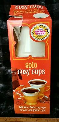 Vtg SOLO COZY CUP Refills Box of 50 White 7 Oz NOS opened Box Once Upon a Tour