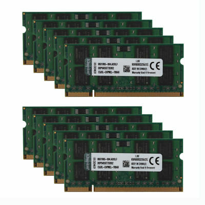 Lot for Kingston 2GB PC2 6400S 2RX8 DDR2 800MHz Laptop Memory RAM SO-DIMM #S6