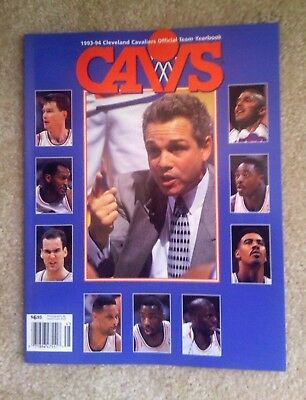 Cleveland Caviliers 1993/1994 Cavs  NBA Yearbook New
