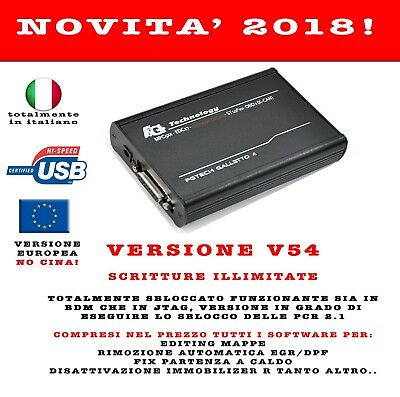 Fg Tech Master Galletto 4 V54 New Versione 2018 Jtag - Bdm - Tricore Dpf Egr