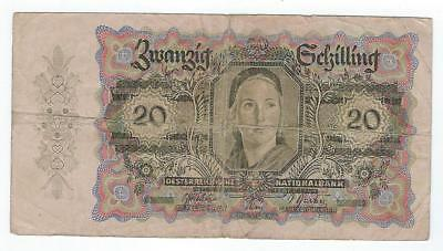 Austria P-123 20 Schilling 1946 circulated