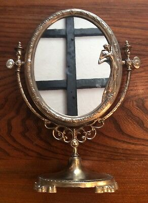 French Brass Dressing Table Mirror