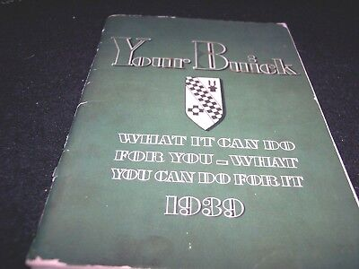 1939 Buick Owner's Manual-Special, Century, Roadmaster, Limited  Chevrolet Ford