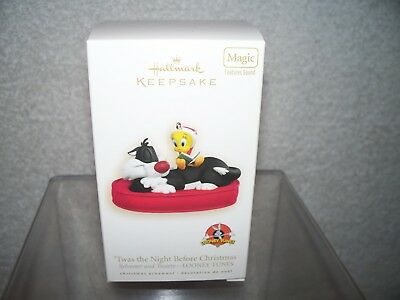 Hallmark Sylvester & Tweety 2008 Ornament Twas The Night Christmas Looney Tunes