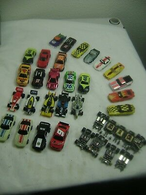 Vintage Ho   Slot Cars  Lot Of 35     Cars And Parts And Engines   Read Ad