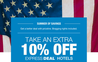 (2) Priceline.com Coupons 10% Off Hotels