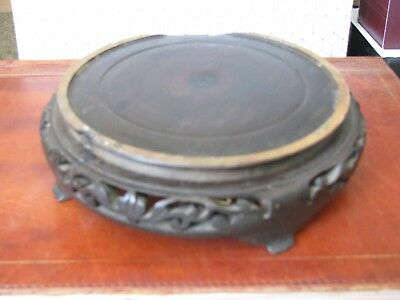 Antique Chinese Wooden Carved Pot Stand