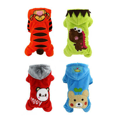 Halloween Winter Cat Dog Costume Jumpsuit Small Pet Puppy Coat Hoodie Apparel