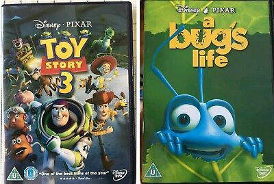 Disney pixar Bundle Toy Story 3 / A Bugs Life Dvd) 2 Films