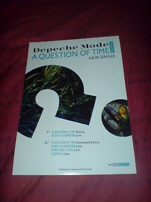 "Depeche Mode ""a Question Of Time"" 17 X 11 Promo Poster"