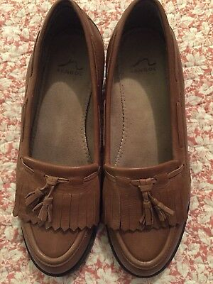 ladies brown leather shoes size 7