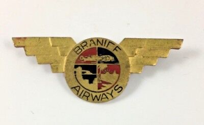 Vintage Braniff Airways Pin 1940s