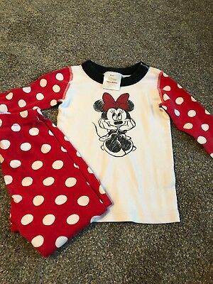 Hanna Andersson Size 90 Minnie Mouse Girls Long Johns Pajamas