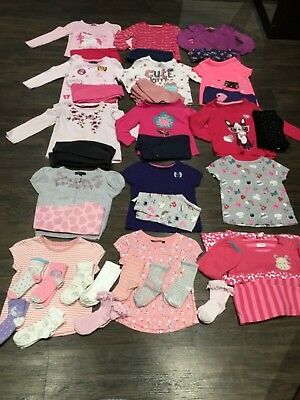 Large bundle girls tops/leggings/jeans, size 2-3 years, 70 items