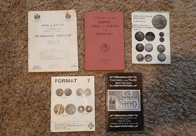 Small Collection of Vintage Coin Auction Catalogues