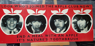 Beatles - Apple Club poster/flat. Eat an Apple - It's Natures Toothbrush