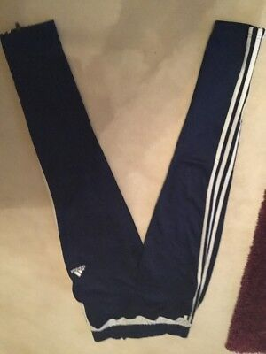 Adidas Blue boys/girls Climacool tracksuit jogging bottoms size age 11-12 years