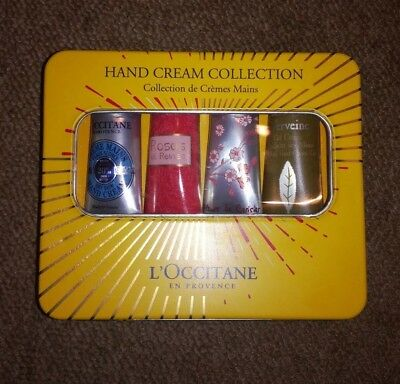 New L'OCCITANE Hand Cream Collection  4 X 30ml  In A Gift Tin Worth £32