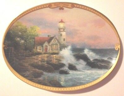"Thomas Kinkade Collector "" Hope's Cottage ""  Lighthouse Plate Limited Edition"