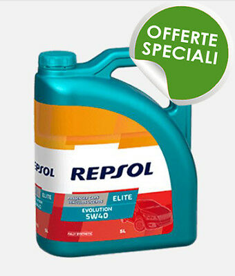 REPSOL Elite Evolution 5w40 Spec. VW 505.01 BMW LL-04 Diesel Benzina Tanica 5 LT
