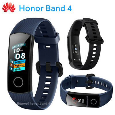 """Original New Huawei Honor Band 4 Wristband AMOLED Color 0.95"""" Touchscreen Blue"""
