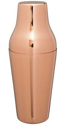 Mezclar French Cocktail Shaker Copper Plated 2 Piece 600ml High Quality