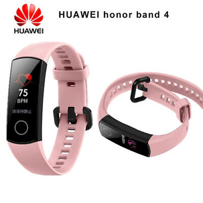 """Original New Huawei Honor Band 4 Wristband Amoled Color 0.95"""" Touchscreen Pink"""