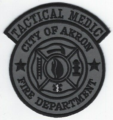 **akron Ohio Fire Department Tactical Medic Subdued Fire Patch**