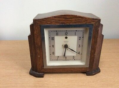 Antique Temco Electric Wooden Mantle Clock