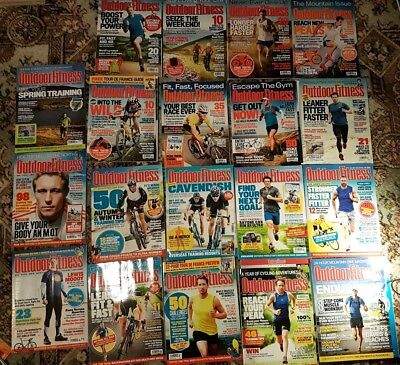 Outdoor Fitness Magazine Large Joblot Back Issues 2013 & 2014